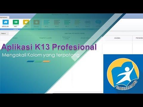 Tutorial Aplikasi K13 Profesional - Mengakali Kolom Yang Terpotong
