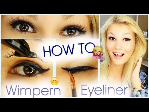 how to wimpern aufkleben eyeliner auftragen youtube. Black Bedroom Furniture Sets. Home Design Ideas