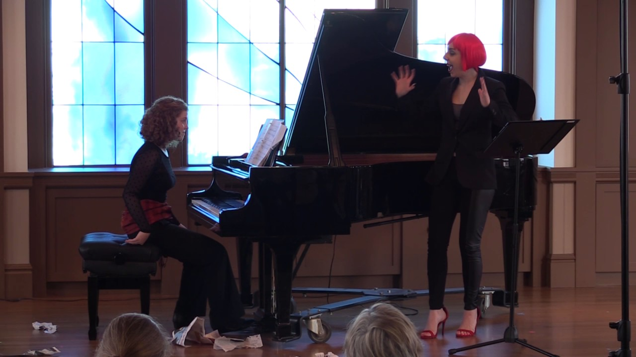 "Sara LeMesh and Allegra Chapman perform Ligeti's ""Mysteries of the Macabre"""