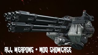 Doom 2016 - All Weapons + Mods Showcase (100 Subs Special)