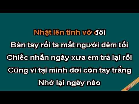 Chiec Nhan Ngay Xua Karaoke - Jimmy Nguyễn - CaoCuongPro