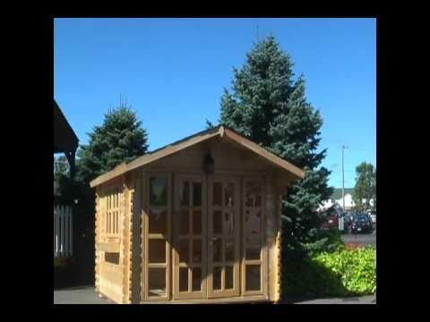 All Naturall Wood Garden Storage Shed