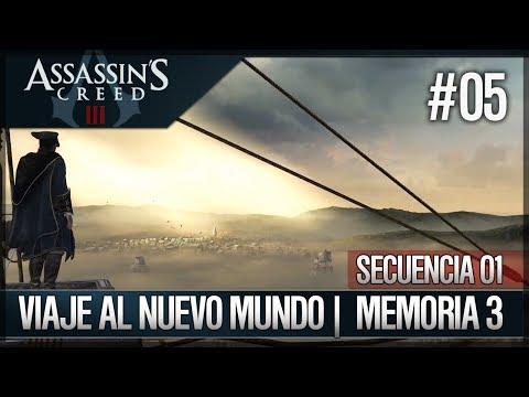 Assassin's Creed 3 - Walkthrough Español - Secuencia ADN 1 - Viaje al nuevo mundo [3] [100%]