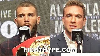 CALEB PLANT & MIKE LEE GET HEATED AND ARGUE; TRADE WORDS DURING TENSE MOMENT AT FINAL PRESSER