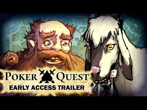 Poker Quest - Steam Early Access Trailer - Roguelike Card Game. Turn Based Deckbuilder