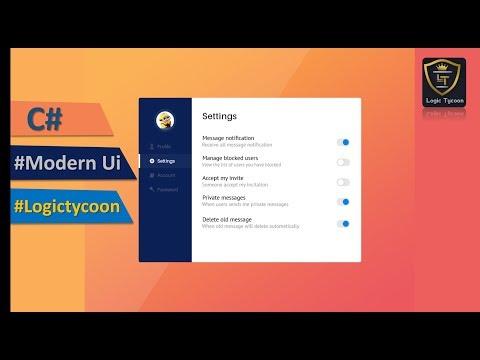C# Modern Ui Form Designing-Lecture-5