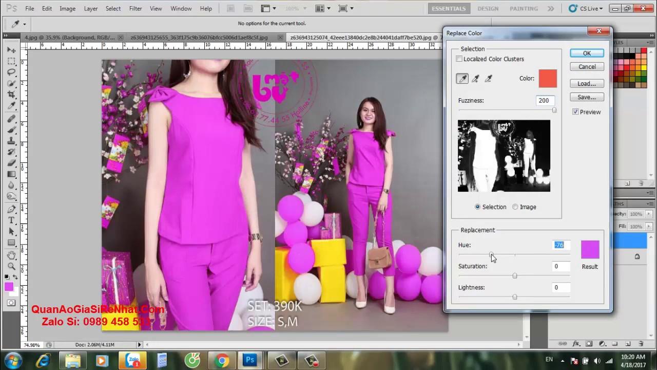 ❀HX Fashion ❀ Chia Sẽ Kinh Nghiệm Chỉnh Sửa Hình Ảnh Quần Áo Trong Photoshop ❀ 16