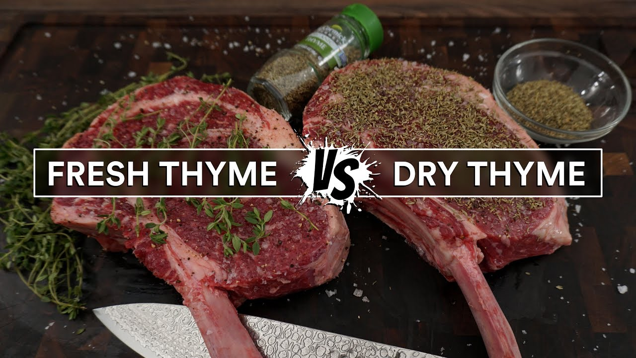 Download FRESH THYME vs DRY THYME on a steak for sous vide
