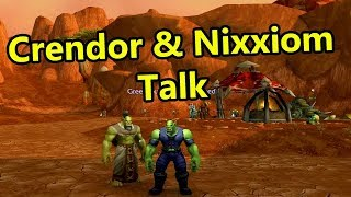 Crendor and Nixxiom talk about Upright Orcs, Music and Whiteboards
