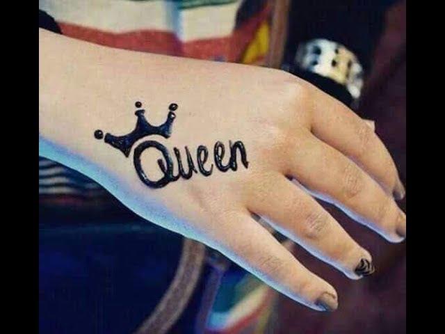 طريقة رسم حنه Queen وقلب رسم الحنا فى 3 دقايق Ola Masoud Youtube
