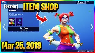 FORTNITE ITEM SHOP *NEW* CLOWN SKINS + MAVEN ARE BACK! | ITEM SHOP (Mar 25, 2019)