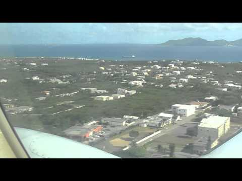 Landing in Anguilla - Rainbow Intl. Airlines flight from San Juan