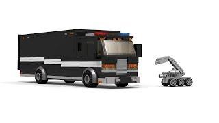 LEGO Bomb Squad Truck & Bomb Robot Tutorial