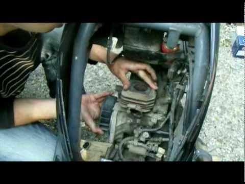 Как сделать тюнинг цилиндро-поршневой группы, ЦПГ скутера Honda dio (разборка)