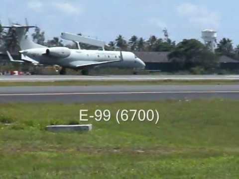 Aviação do Brasil: FAB E-99 (6700) Embraer EMB-145SA decolando de SSA/BA