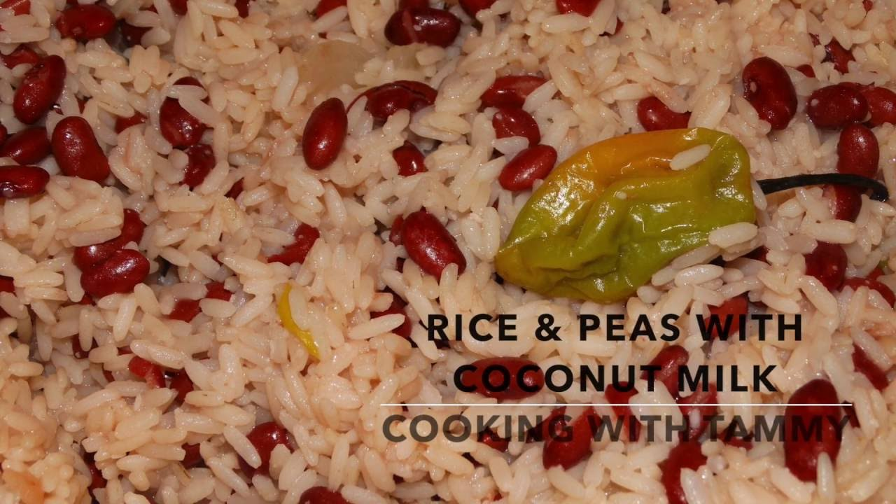 Rice And Peas With Coconut Milk Cooking With Tammy