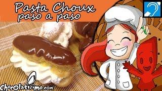 Pasta Choux paso a paso para profiteroles y éclairs - Elaboraciones y técnicas básicas