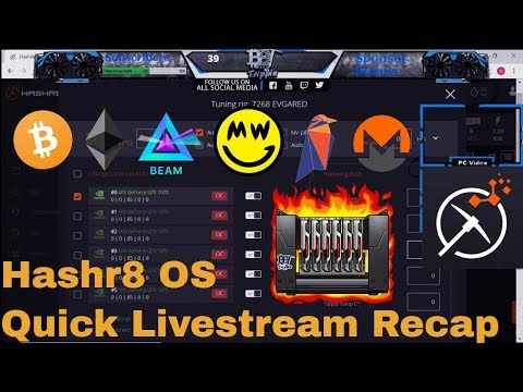 Hashr8 OS - New Mining OS For GPUs, ASICs - Review And Optimization