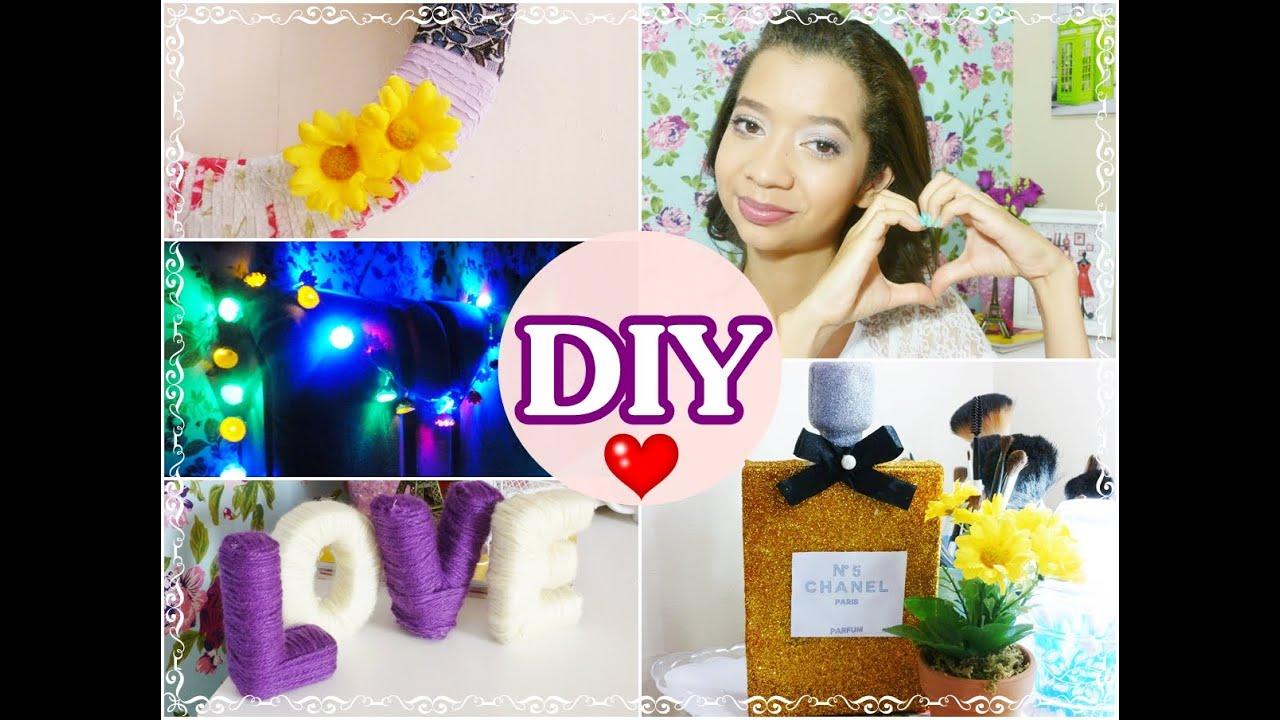 DIY  Ideias simples e baratas para decorar o seu quarto ♥  #JessycaTodoDia