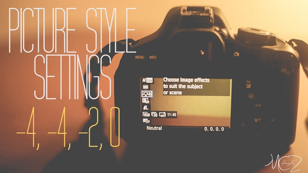 Canon Eos 600d Picture Style Editor