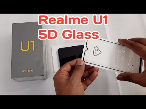 Realme U1 5D Tempered Glass how to Apply full glass protector without Bubbles
