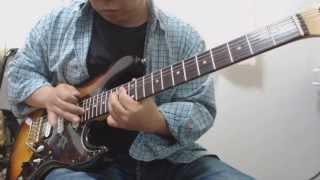 オリジナルCDのギターソロ部分から音声加工ソフトを用いてリードギタ...