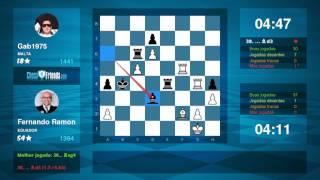 Chess Game Analysis: Fernando Ramon - Gab1975 : 1-0 (By ChessFriends.com)