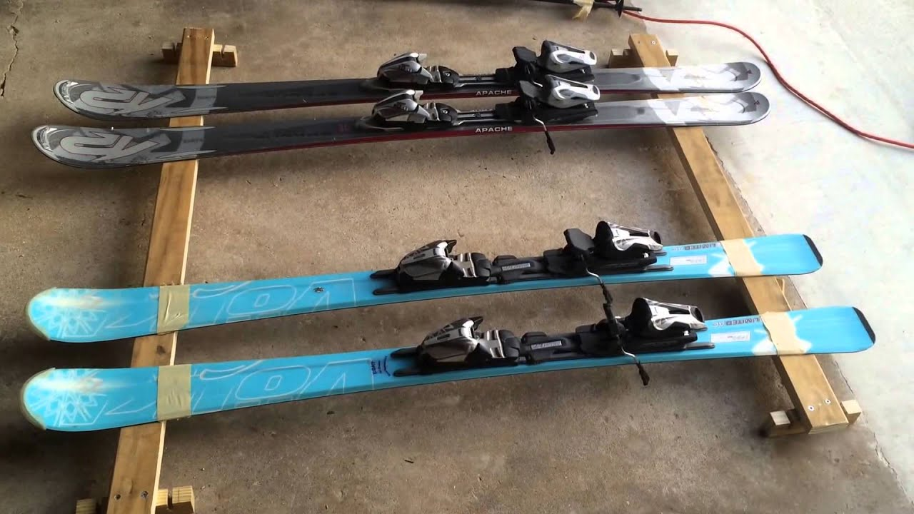 Homemade car roof ski rack from existing roof rails--cheap ...