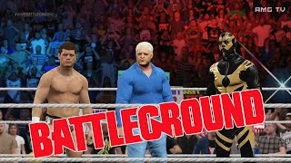 WWE 2K15 - The Shield vs The Rhodes | Battleground 2013 Highlights