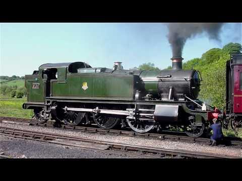Steam Locomotive Great Western 2-6-2 Prairie tank 5199 Cheddleton