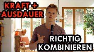 WIE MAN AUSDAUER UND KRAFT AM BESTEN KOMBINIERT | Frag den Coach #1