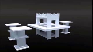 Master Coffee Table & Stool Set
