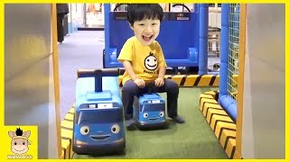 Indoor Playground Family Fun Play Area Baby Tayo Bus in Real Life Nursery Rhymes | MariAndKids Toys