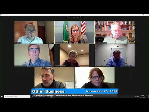 November 17 Council Meeting