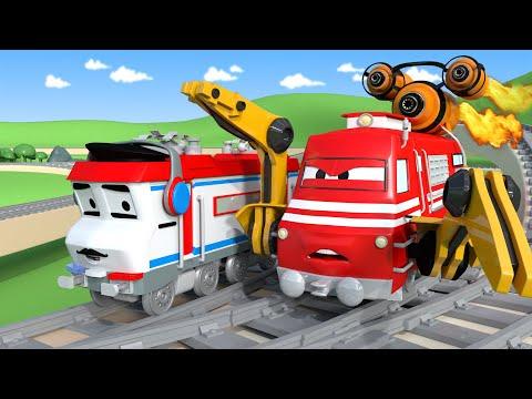Troy o Trem - O trem de corrida - Cidade do Trem  Desenhos animados para Crianças  🚄