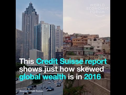 This Credit Suisse report shows just how skewed global wealth is in 2016