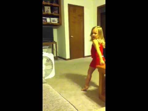 """Cute little girl singing """"chilling on a dirt road"""""""
