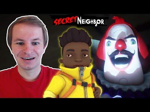 Secret Neighbor Beta | Обзор на Баггера и Клоун Сосед
