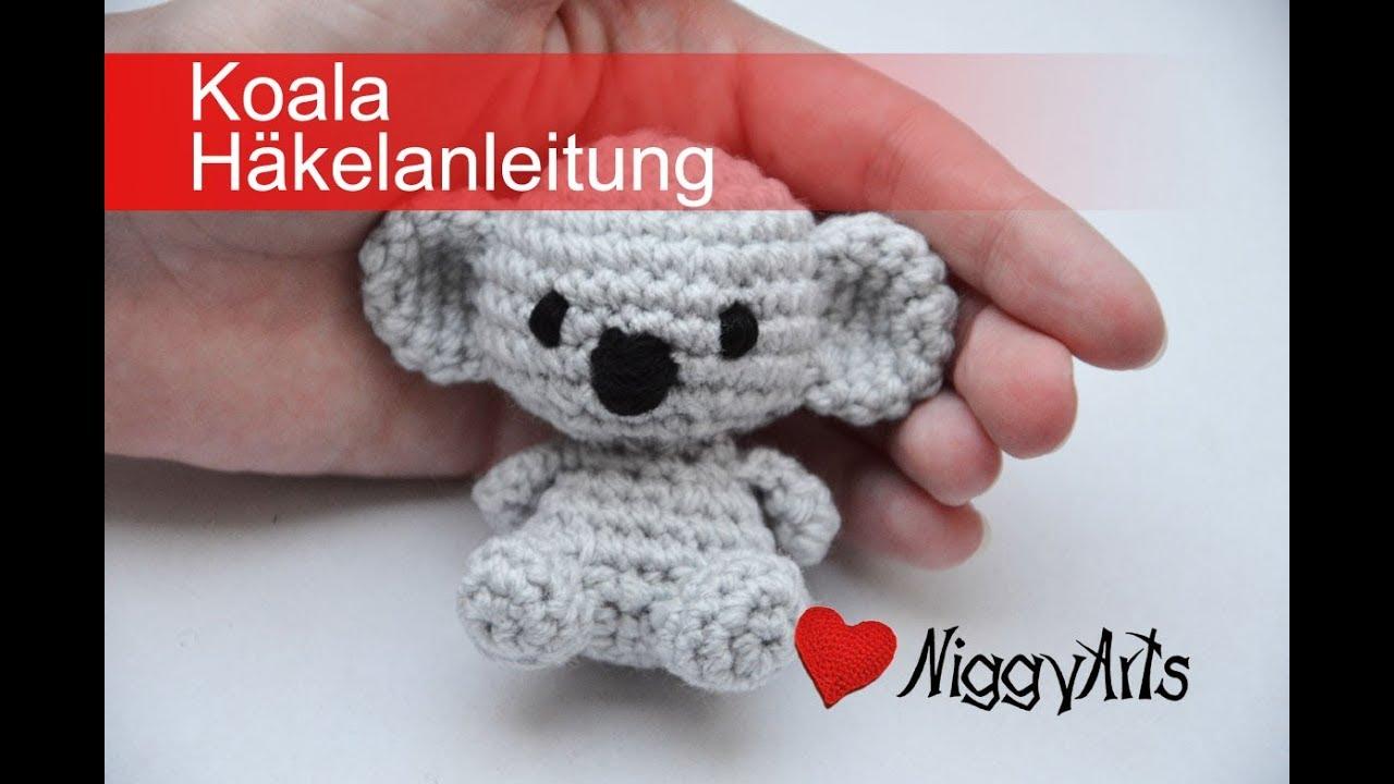 NiggyArts - Koala Häkelanleitung - YouTube