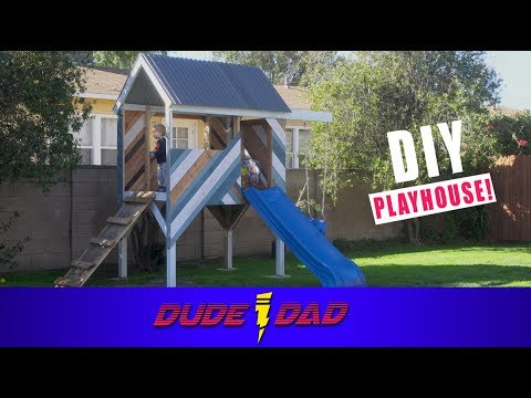 DIY TreeHouse Time-Lapse | Dude Dad