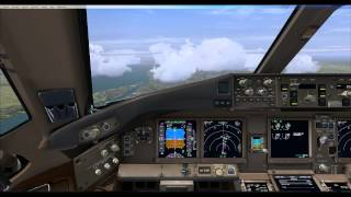 PMDG 777 cold n dark taxi takeoff landing