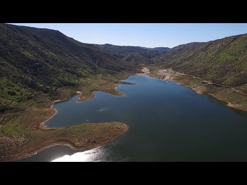 El Capitan Reservoir San Diego County from a DJI Phantom 3