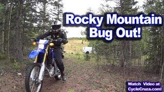 VAN ROAD TRIP Colorado PT 3 -  Rocky Mountain Riding on WR250r - Cheap RV Park - Van Cooking