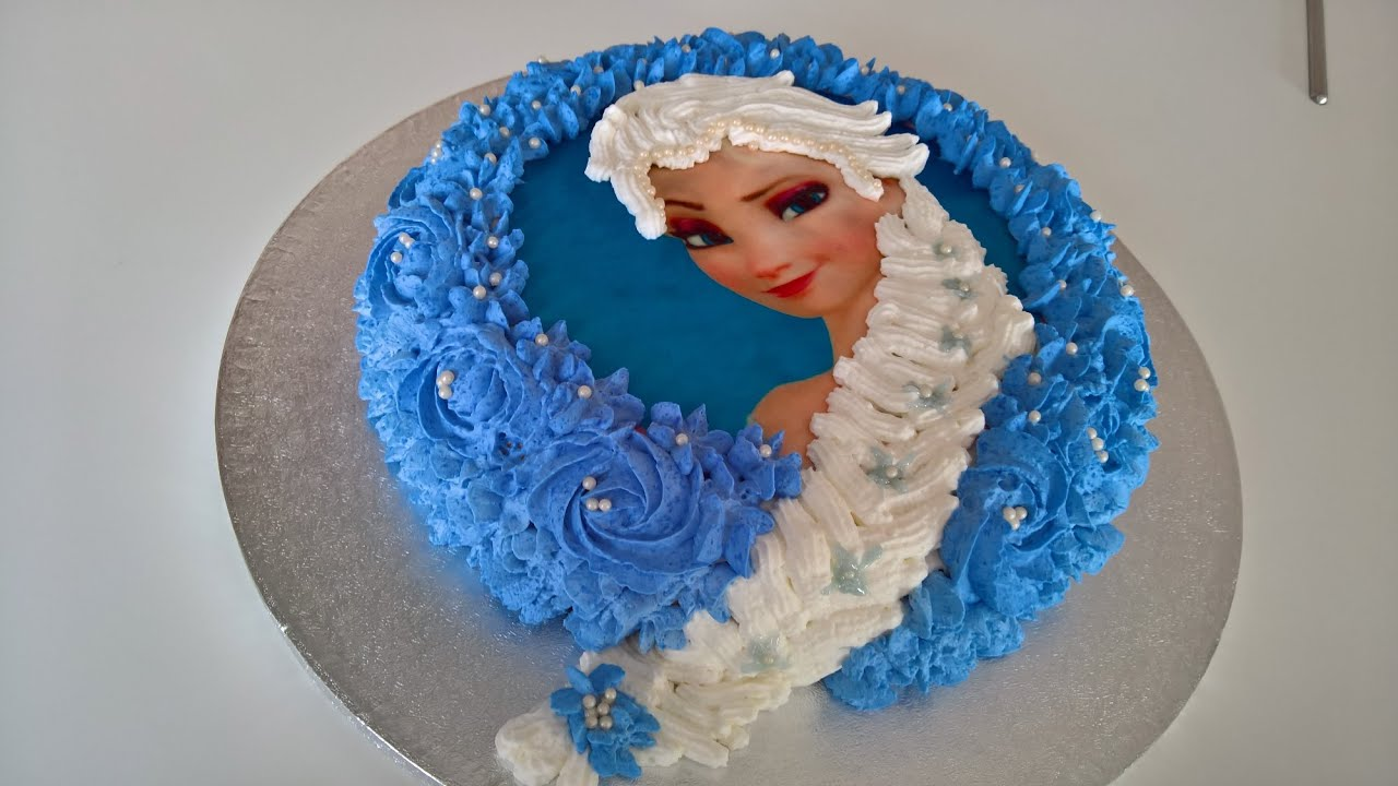 frozen birthday cake tutorial from basic ingredients YouTube