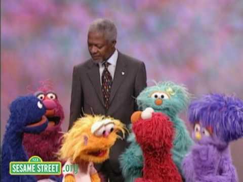 Sesame Street: Kofi Annan Helps Out