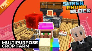 Automatic Crop Farm | Super Chunk Block [2] | Minecraft Bedrock Edition 1.14 SMP