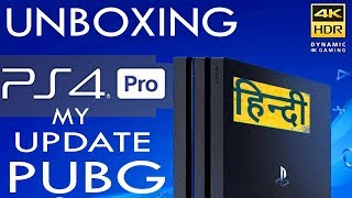Ps4 Pro Unboxing Hindi India - My Pubg Update