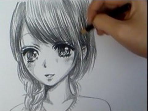 How to draw a manga girl my oc youtube