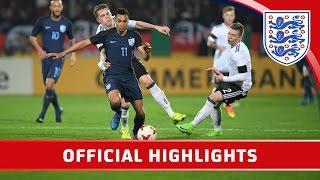 Germany U21 1-0 England U21 | Official Highlights