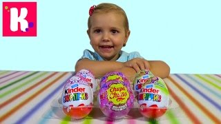 Свинка Пеппа Маша и Медведь сюрпризы распаковка игрушек Peppa Pig Surprise eggs with toys unboxing